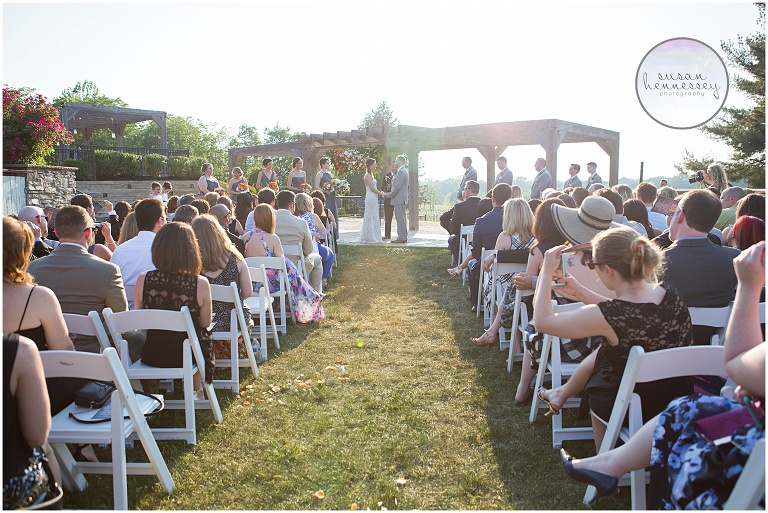 Laurita winery wedding a rustic chic wedding ashley matt outdoor ceremony at laurita winery junglespirit Image collections