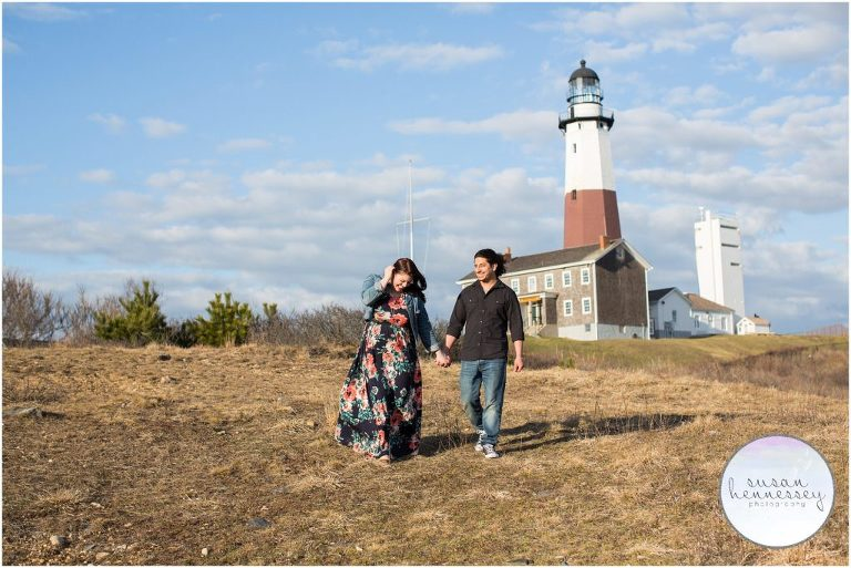 New Jersey Engagement Photographer - lighthouse engagement session