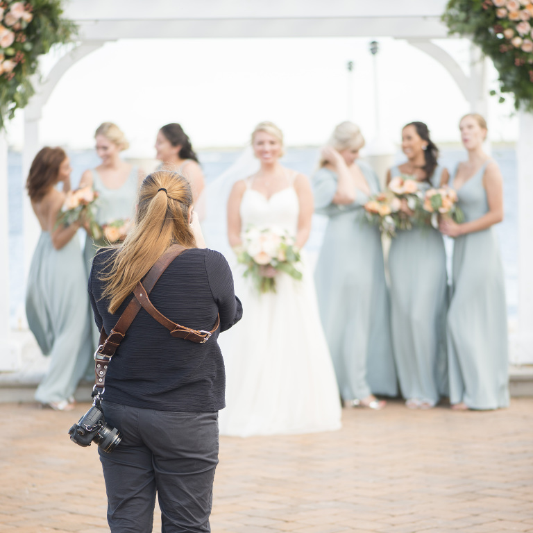 South Jersey Wedding Photographer - taking formal bridal portraits