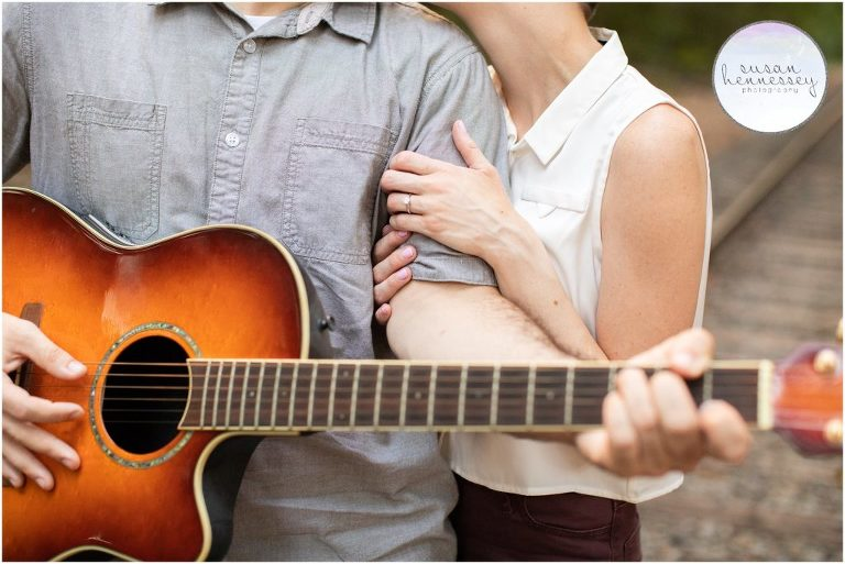 A musician couple takes their engagement photos in south jersey
