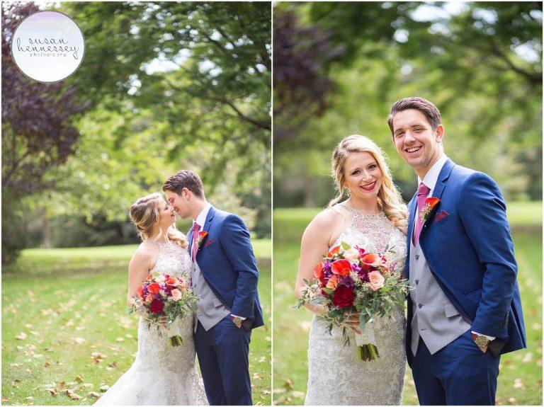 wedding portraits at the Bayard Cutting Arboretum