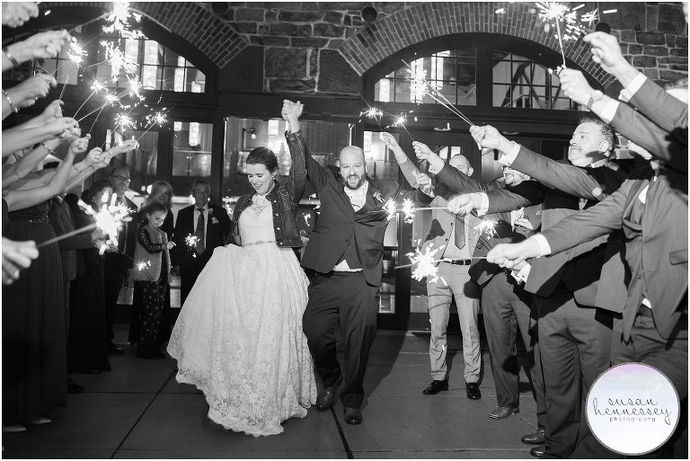 Sparkler exit at Phoenixville Foundry Wedding