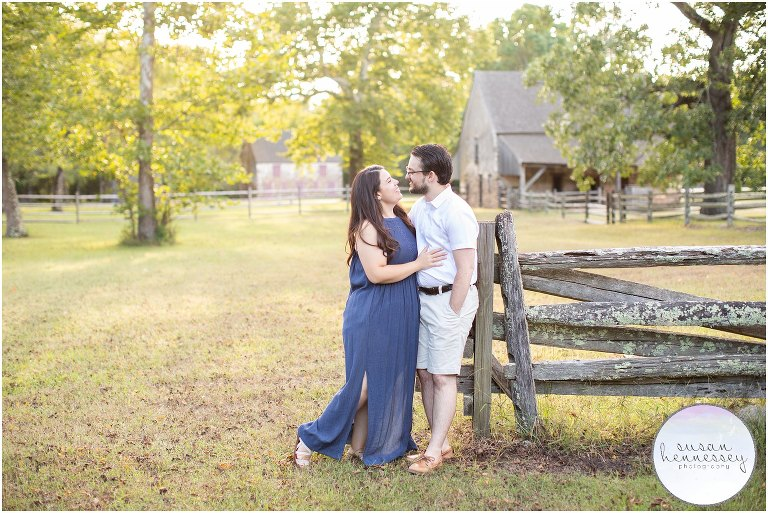 Perfect light for an engagement session at Batsto Village