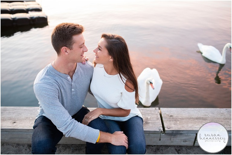 Ortley Beach Engagement Session at sunset