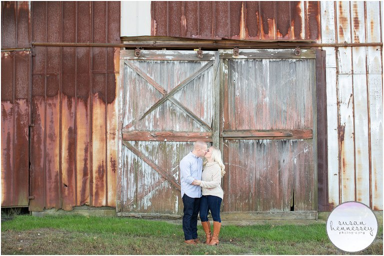 Rustic engagement session in central new jersey