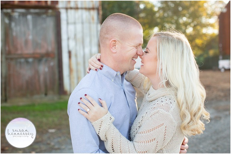 Fall engagement session at Laurita Winery