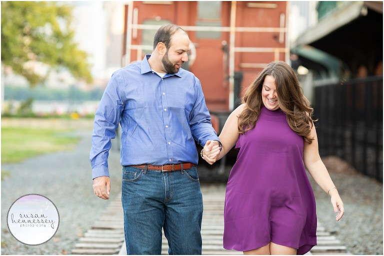 Jersey City Engagement Session at Liberty State Park