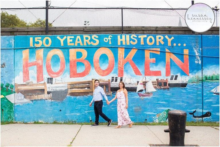 Hoboken NJ Engagement Session   Alyssa & Mark