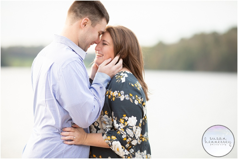 Fall engagement session at Marsh Creek State Park