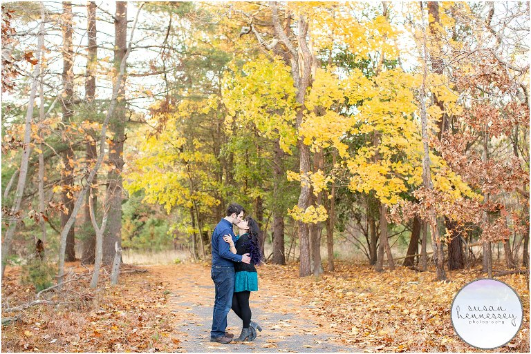 Fall engagement session at Blueberry Hill
