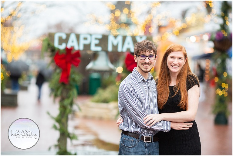 Cape May winter engagement