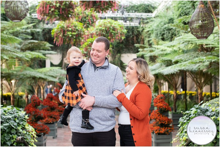 Fall family session at Longwood Gardens