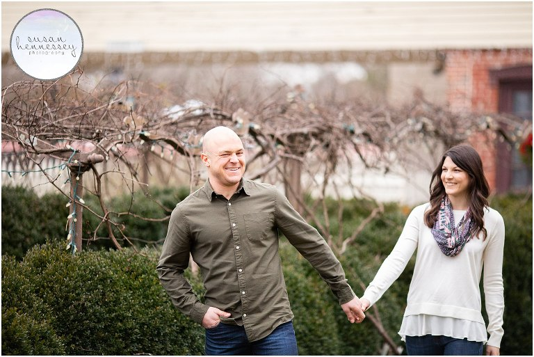 A winter engagement session in South Jersey