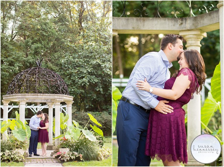 An engagement session at Sayen Gardens in Hamilton, NJ