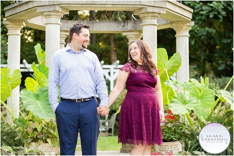 Chelsea and Scott's Sayen Gardens Engagement Session