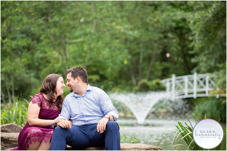 A Fall engagement session at Sayen Gardens in Hamilton, NJ
