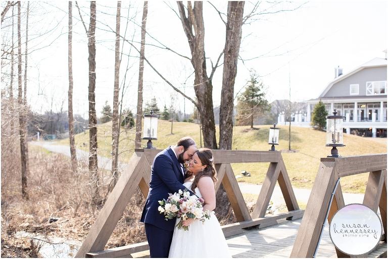 Spring wedding at Bear Brook Valley