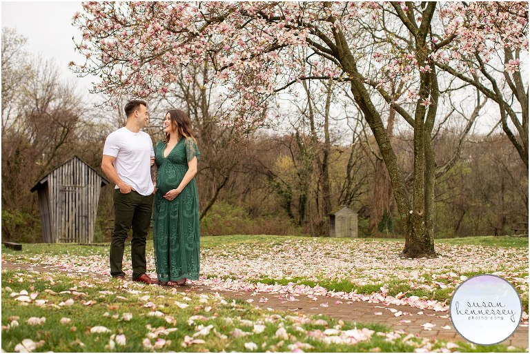Cherry Blossoms Barclay Farmstead maternity session