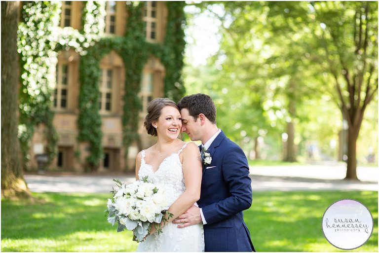 Wedding day portraits at Princeton University