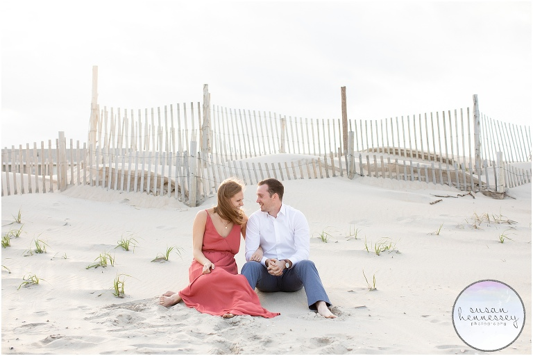 An LBI engagement session on the Jersey Shore.