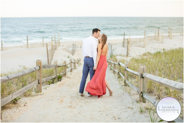 A couple at Long Beach Island for their engagement photography session.
