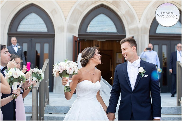 Spring Lake wedding with ceremony at St. Pio Of Pietrelcina in Lavallette, NJ