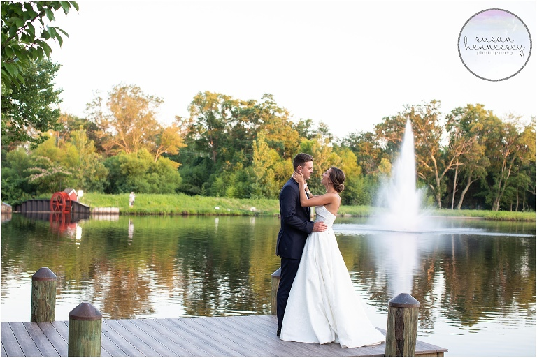 Sunset portraits at The Mill Lakeside Manor Wedding
