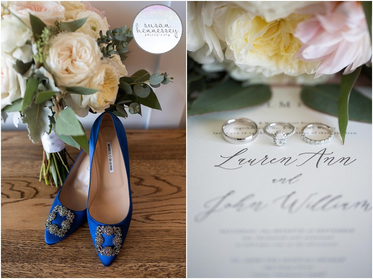 manolo blahnik shoes and elegant invitation suite for rehoboth beach country club wedding