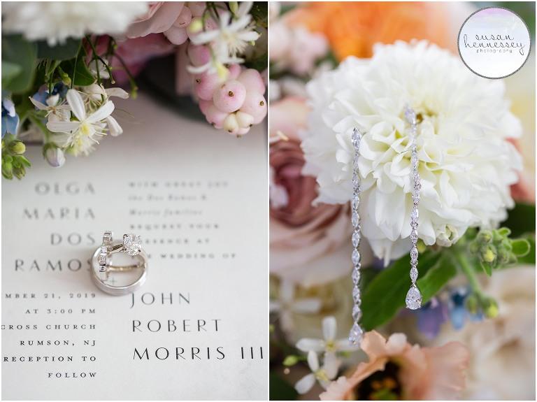 Bridal details for Sea Bright, NJ wedding