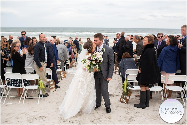 Beach ceremony on the Jersey Shore
