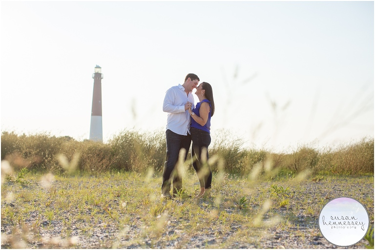Barnegat Lighthouse Engagement Session | Caitlin & Billy