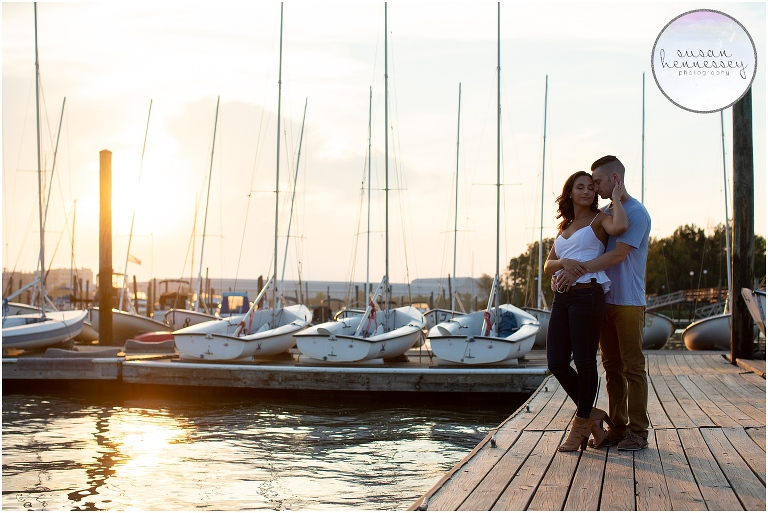 Corinthian Yacht Club Engagement Session | Essington, PA | Kristi & Drew