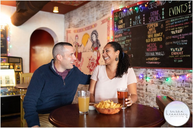 Engagement session at Dos Segundos in Philly