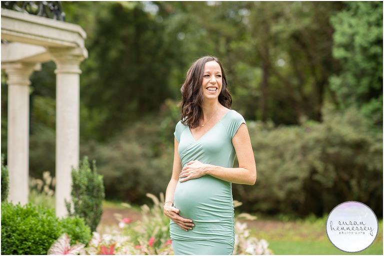 Summer maternity session at Sayen Gardens