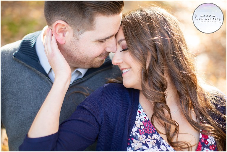 An engagement session at Peace Valley Park