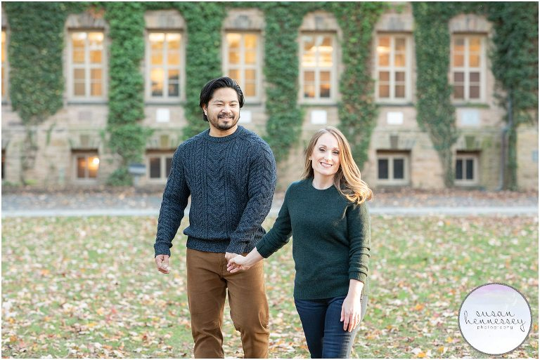 Ashley and Drew at their Princeton University engagement session