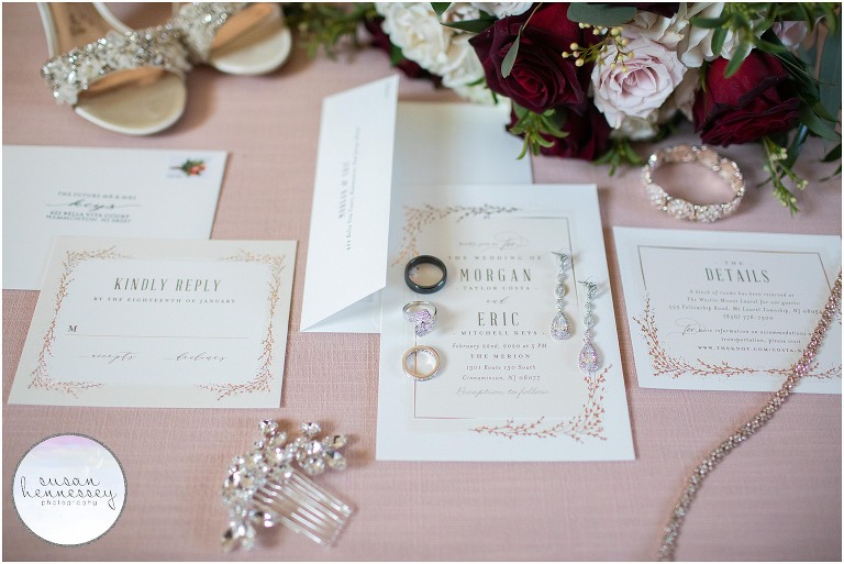 Invitation suite from Minted for Winter wedding
