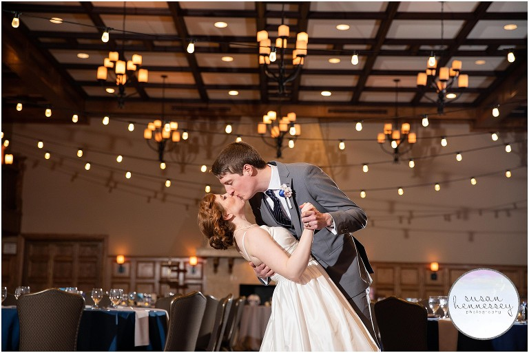 A winter wedding at he Moorestown Community House