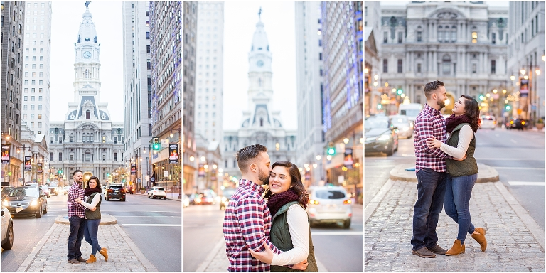 City Hall in Philadelphia is an Iconic location for engagement or wedding photos.