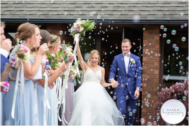 A bubble exit at a South Jersey microwedding