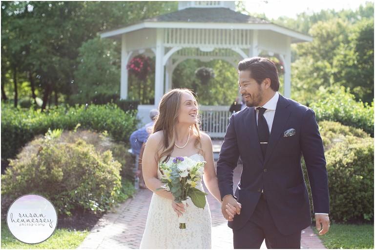 An intimate Summer wedding at Sayen Gardens