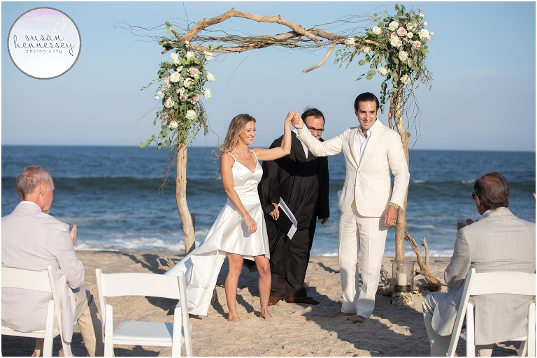 A ceremony on the beach in Bay Head