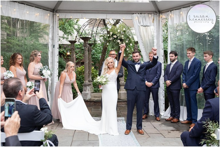 A ceremony at the Morris House Hotel
