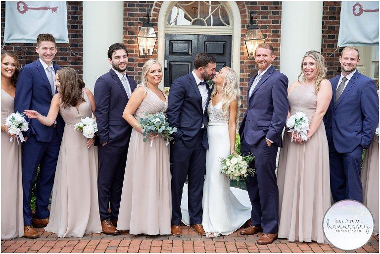 Bridal party at Philadelphia Microwedding