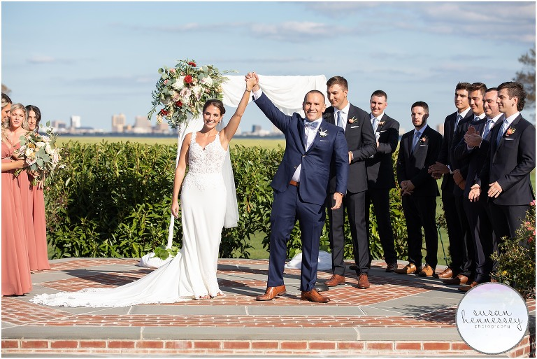 Outdoor ceremony at Atlantic City Country Club