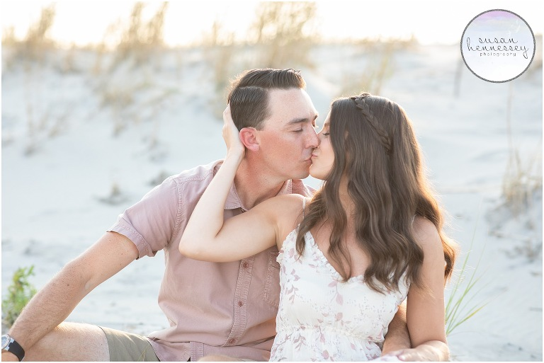 Ocean City engagement session at Corson's Inlet