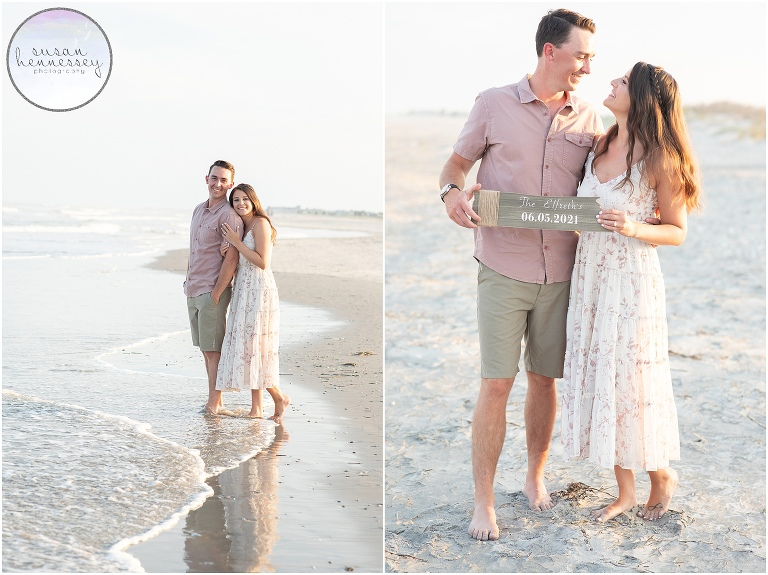 An engagement session at Corson's Inlet