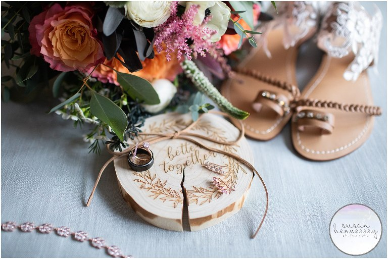 Bridal details for rustic The Hamilton Manor wedding