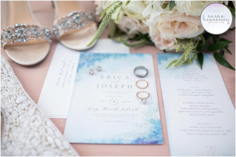 Bridal details at Long Beach Island Microwedding