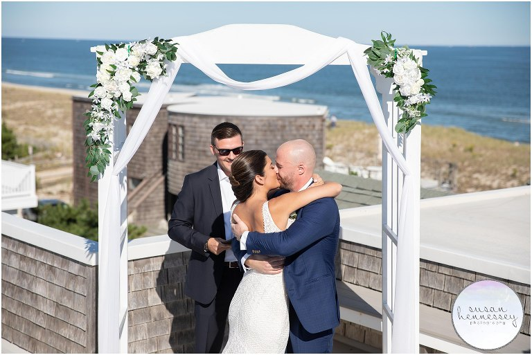 Roof deck ceremony at Long Beach Island Microwedding